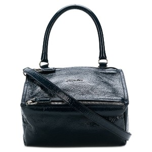 Givenchy vernished square shaped bag - ブルー