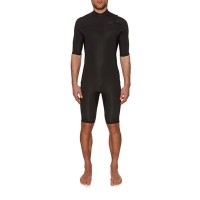 ビラボン ウェットスーツ Billabong Revolution 2mm 2018 Short Sleeve Chest Zip Shorty Wetsuit Black