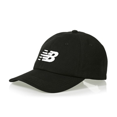 ニューバランス キャップ New Balance 6 Panel Curved Brim Snapback Cap Black