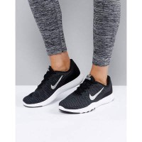 ナイキ スニーカー Nike Training Flex Trainers In Black Black