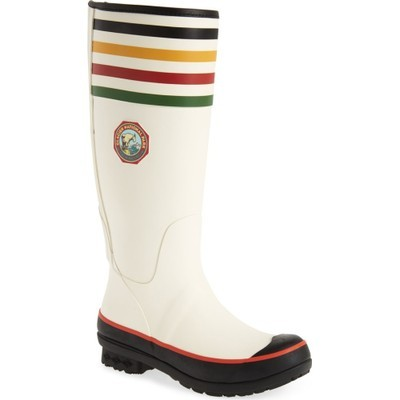 ペンドルトン レインシューズ・長靴 Pendleton Glacier National Park Tall Rain Boot White