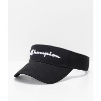 チャンピオン サンバイザー Champion Twill Mesh Black Visor Black