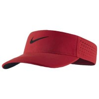 ナイキ サンバイザー Nike AeroBill Visor University Red/Black