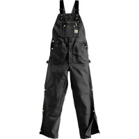 カーハート オーバーオール Carhartt Unlined Zip-To-Thigh Duck Bibs Black