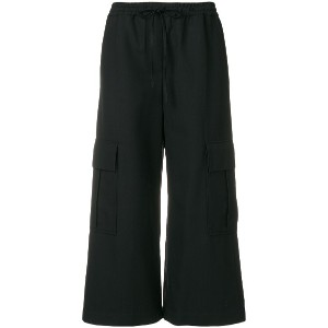 Kenzo cropped trousers - ブラック