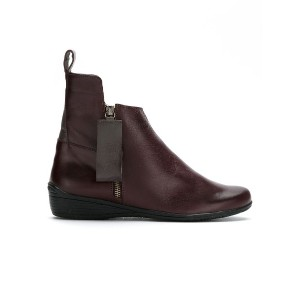 Mara Mac leather ankle boot - ピンク&パープル