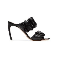 Nicholas Kirkwood black courtney 90 leather mule - ブラック