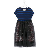 Go To Hollywood striped tulle dress - ブラック
