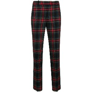 Ermanno Scervino tartan fitted trousers - ブラック