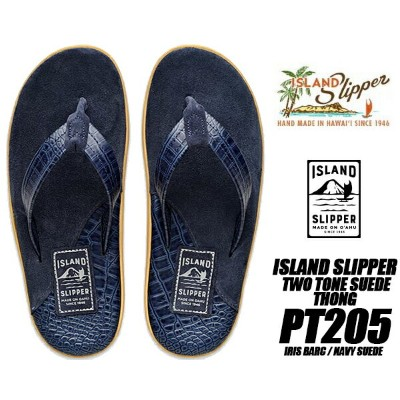 ISLAND SLIPPER TWO TONE SUEDE THONG IRIS BARC / NAVY SUEDE 【アイランドスリッパ SANDAL PT205 レザー スウェード スエード...