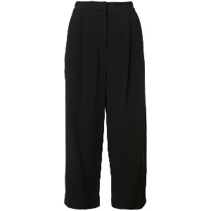 Adam Lippes pleated culottes - ブラック