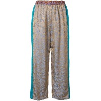 Forte Forte jacquard cropped trousers - ヌード&ナチュラル