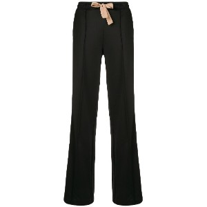 Dorothee Schumacher contrasting strap trousers - ブラック
