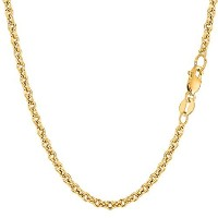 14k Yellow Gold Forsantina Chain Necklace, 3.1mm, 24""