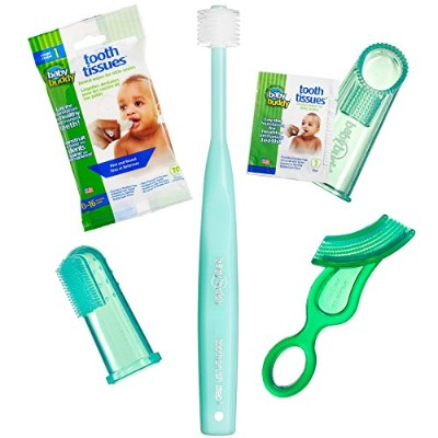 Baby Buddy Infant Oral Care Set, Green by Baby Buddy