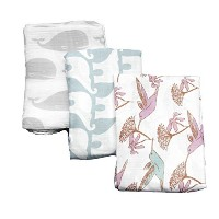 Organic Cotton Baby Blankets. Hummingbird Design. Free Gift Box. by The Guilford Company