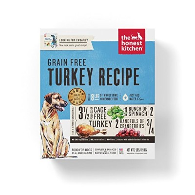 The Honest Kitchen Dehydrated Embark Grain Free Turkey Dry Pet Dog Food 2lbs
