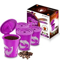 FROZ-CUP 2.0 - 4 Refillable/Reusable K Cups for Keurig 2.0 - K200, K300, K400, K500 Series and all...