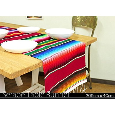 RUG&PIECE Mexican Serape Table Runner made in mexcico メキシカン サラペ テーブルランナー (rug-6149)
