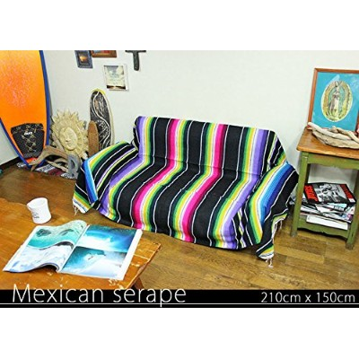 RUG&PIECE Mexican Serape made in mexcico ネイティブ メキシカン サラペ メキシコ製 210cm×150cm (rug-6167)