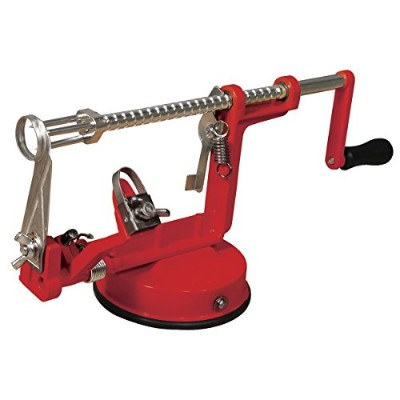 Apple peeler core and slicer