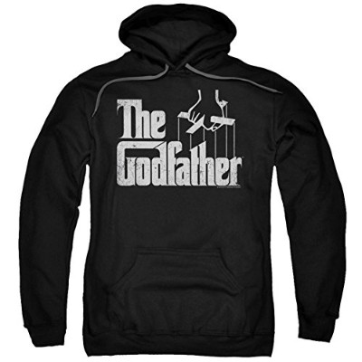 Trevco Godfather-Logo Adult Pull-Over Hoodie, Black - XL