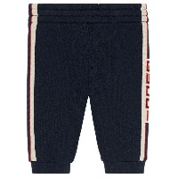 Gucci Kids Baby jogging pant with Gucci stripe - ブルー