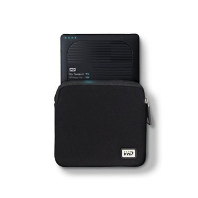NEOPRENE CARRYING CASE FOR MY PASSPORT WIRELESS PRO WITH POCKET FOR USB CABLE