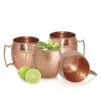 AVS STORE テつョ Handmade Pure Copper Hammered Moscow Mule Mug (4) by AVS