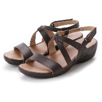 ドクター ショール Dr.Scholl Scholl Comfort Crossed Belt Sandals (DK.Brown) レディース