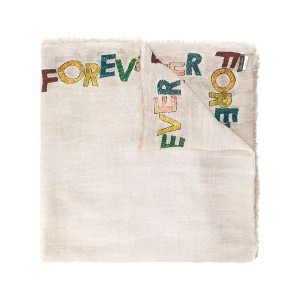 Faliero Sarti slogan embroidered scarf - ニュートラル