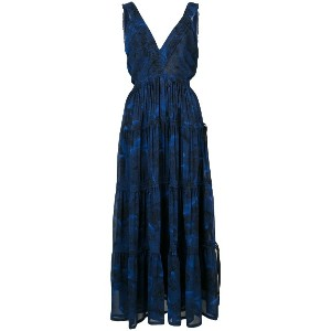 Proenza Schouler Pleated Empire Dress - ブルー