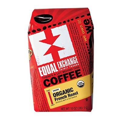 Equal Exchange Organic Coffee, French Roast, Ground, 10-Ounce Bags (Pack of 3) by Equal Exchange