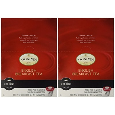 Twinings English Breakfast Tea, Keurig K-Cups, 24 Count (Pack of 2) by Twinings