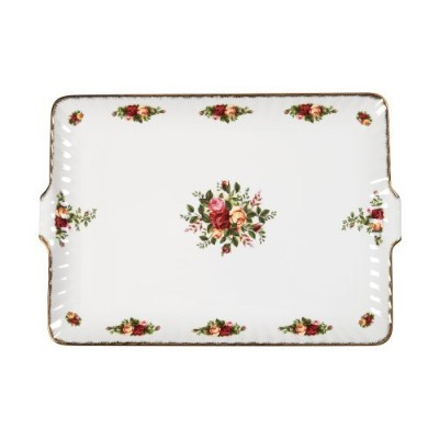 Royal Albert Old Country Roses 12.5-inch Fluted Serving Tray