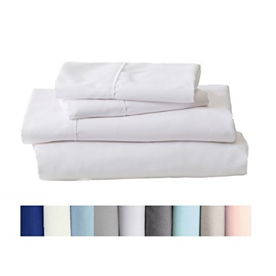 (Twin, White) - Claudette Collection Egyptian Quality Double Brushed Microfiber Sheet Set....