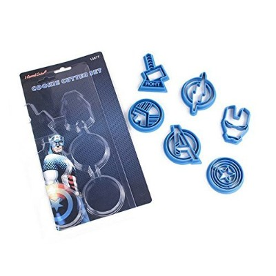 Astra Gourmet Avengers Capatain American Cookie Cutters, Plastic Baking Fondant Cookie Moulds Cake...