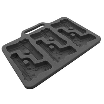(Black Gun) - TrendBox DIY Silicone Ice Cube Mould Mould Tray Maker Freeze Soft For Chocolate...