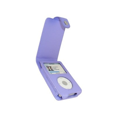 iGadgitz Purple Leather Case Cover for Apple iPod Classic 80GB, 120GB & Latest 6th Generation 160gb...