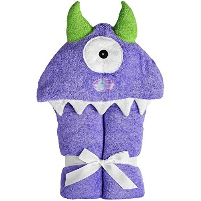 Yikes Twins Child Hooded Towel - Purple Monster by Yikes Twins