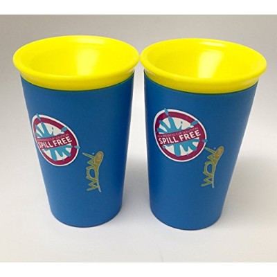 Wow Cup for Kids - NEW Innovative 360 Spill Free Drinking Cup - BPA Free - 9 Ounce (Blue) by Wow...
