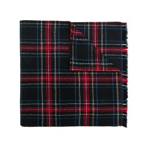 Ermanno Scervino plaid knit scarf - ブラック