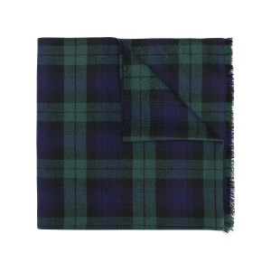 Ermanno Scervino plaid knit scarf - ブルー