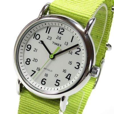 TIMEX (タイメックス) T2P145 WEEKENDER CENTRAL PARK FULL SIZE/ウィークエンダー セントラルパーク フルサイズ ナイロンベルト ライムグリーン 輸入品...