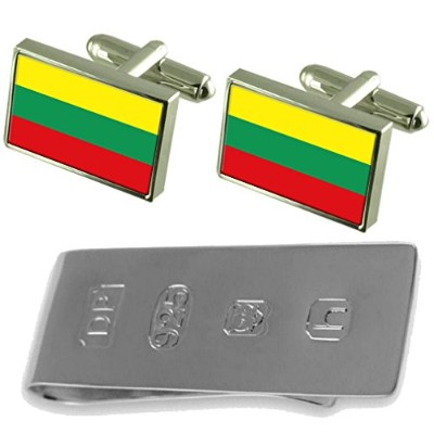Lithuania Flag Cufflinks & James Bondお金クリップ