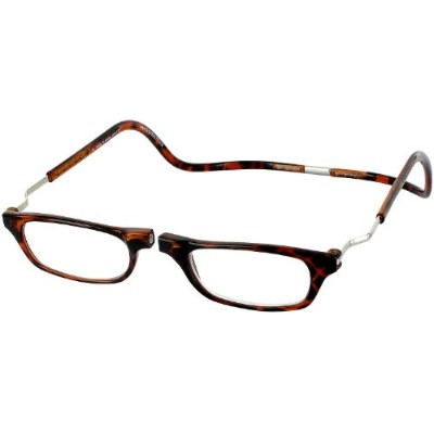 CliC XXL Adjustable Front Magnetic Connect Expandable Reading Glasses; Tortoise by CliC
