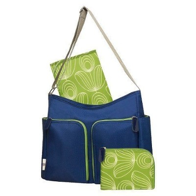 Orla Kiely Two Pocket Diaper Bag - Blue/green by orla