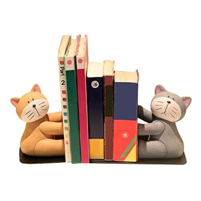(Cat) - Eastyle Heavy Duty Cat Bookend Nonskid Bookends for Kids Students Tabletop Organisers
