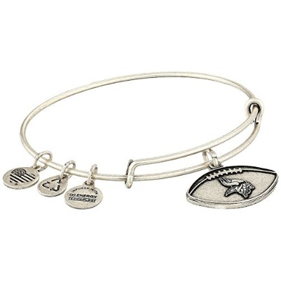 Alex and Ani Womens NFL Minnesota Vikings Footballバングル One Size シルバー