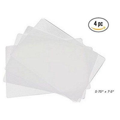 "4 ALAZCOクリア柔軟なカッティングボード5.75 "" X 7.5 "" Small forバーcounter-top Chopping Mats forフルーツ&野菜Appetizer..."